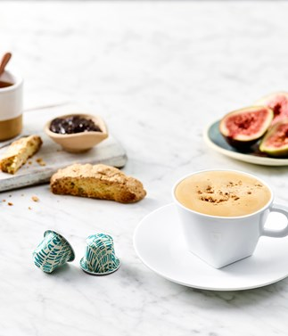 Honey and fig jam cappuccino
