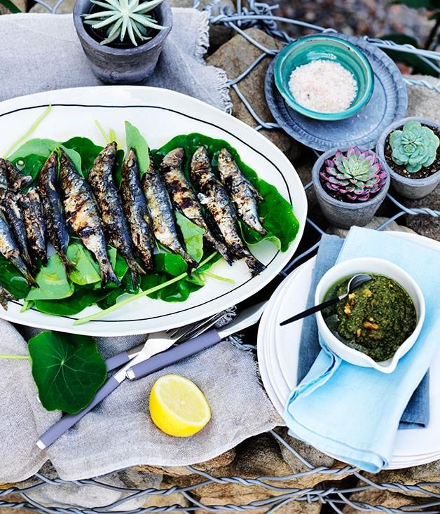 "[**Grilled sardines with nasturtiums and rosemary tarator**](https://www.gourmettraveller.com.au/recipes/chefs-recipes/grilled-sardines-with-nasturtiums-and-rosemary-tarator-8166|target=""_blank"") Mike McEnearney isn't one to shy away from fish at breakfast, especially if they're smoky grilled sardines like these."