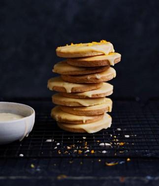 Mandarin-glazed cookies