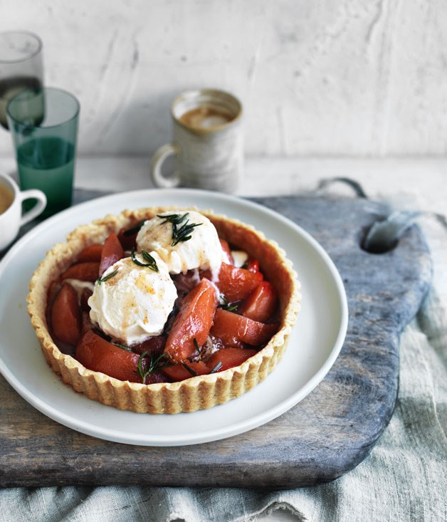 "**[Quince and brown butter pastry tart](http://www.gourmettraveller.com.au/recipes/browse-all/quince-and-brown-butter-pastry-tart-12813|target=""_blank"")**"