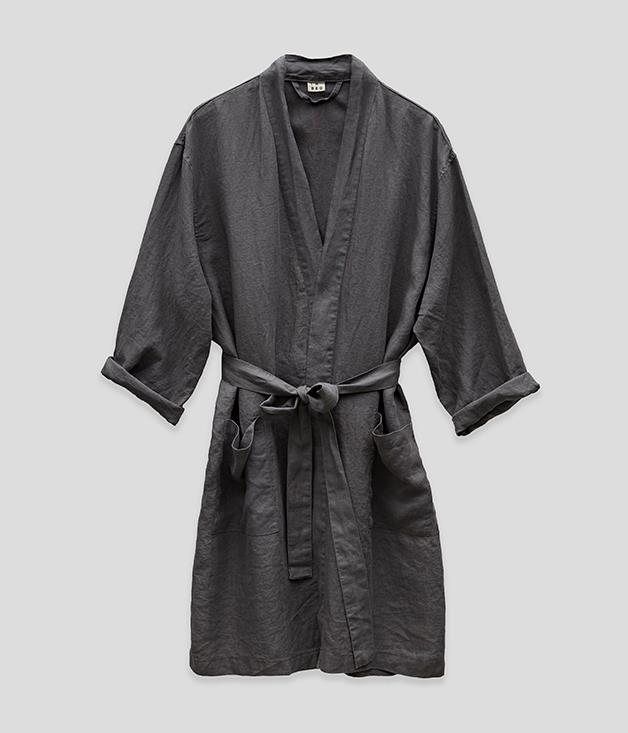 **In Bed linen robe** This pure linen robe - made from the same fabric as In Bed's luxe sheets - is perfect year-round, with its natural fibres, relaxed cut and super-soft feel. Essential lazy weekend wear. _Available from [inbedstore.com](https://inbedstore.com/), $140._