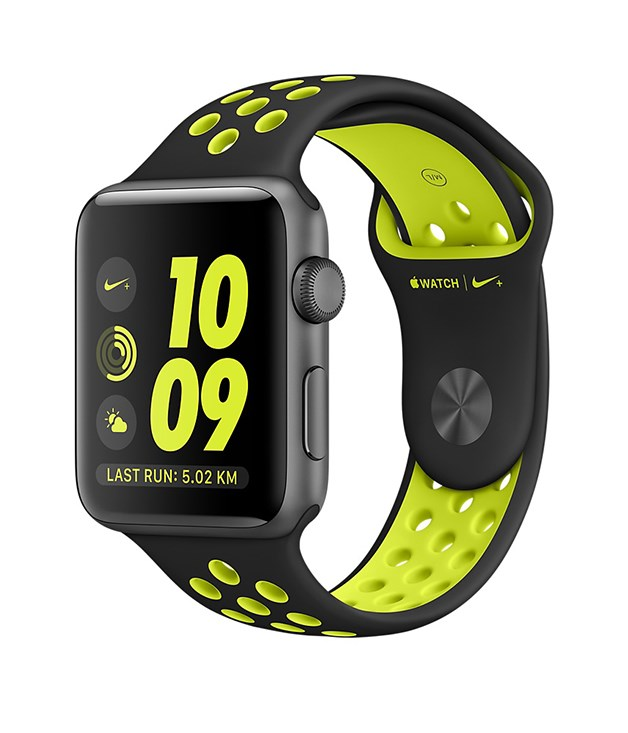 **Apple Watch Nike+** Apple has teamed up with Nike for the ultimate sporting accessory. As well as GPS, WiFi and a water-resistant rating of 50 metres, Apple's Nike+ collaboration connects you to Nike+ Run Club for run reminders, advice and the motivation of thousands of other runners, all at the flick of a wrist. $529, [apple.com](https://www.apple.com/)