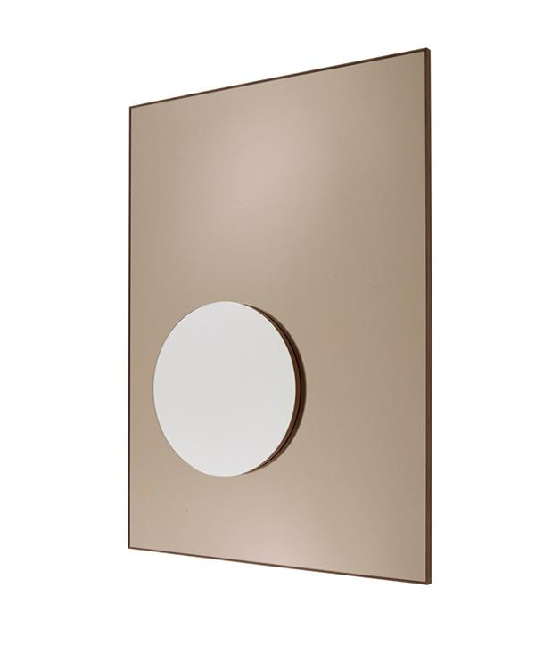 "**Ligne Roset demi-teintes mirror** Known for its technically innovative designs, French manufacturer Ligne Roset, have designed a mirror to reflect with ""less aggression"". The two-toned mirror reflects clearly in grey or bronze, with one mirror able to hide the other. <br><br>*Available from [domo.com.au](https://www.domo.com.au/product/demi-teintes-mirror/), POA.*"