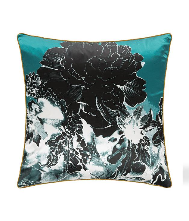 **Roberto Cavalli Flower cushion** Beautifully crafted from silk, this floral cushion will give your living room a fashion-forward finish. Intricately detailed with piped edges, its decorative design will make it a statement piece within any home.  <br><br>*Available from [amara.com](https://au.amara.com/products/flower-silk-cushion-aqua), $248.*