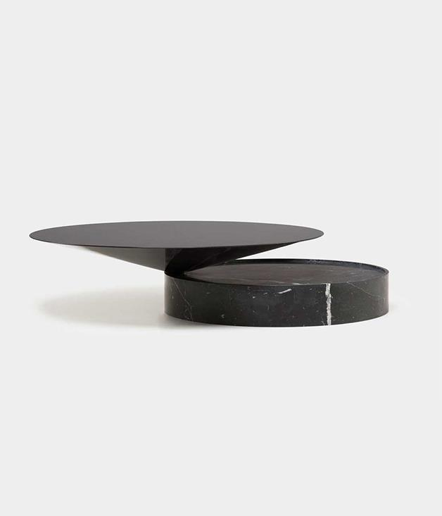 **Luca Nichetto Laurel coffee table** Composed of two geometric shapes, the cone and cylinder, this beautifully balanced marble and hardboard coffee table is designed by Luca Nichetto and manufactured by De La Espada. Its unique design combines for an artistic, yet practical, living room addition.  <br><br>*Available from [criteriacollection.com.au](https://criteriacollection.com.au/products/laurel-coffee-table), POA.*