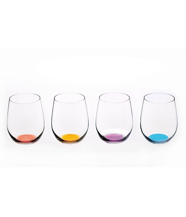 **Riedel Happy O Wine Tumblers** Made to inspire a good mood, these glass tumblers each have a subtle colouration on their bases. Without discolouring your chardonnay, you'll be able to distinguish your glass from your fellow dinner guests - the perfect party companion.  <br><br>*Available from [riedelglass.com.au](https://riedelglass.com.au/riedel/new-items/happy-o-541400088.html), $99.95.*