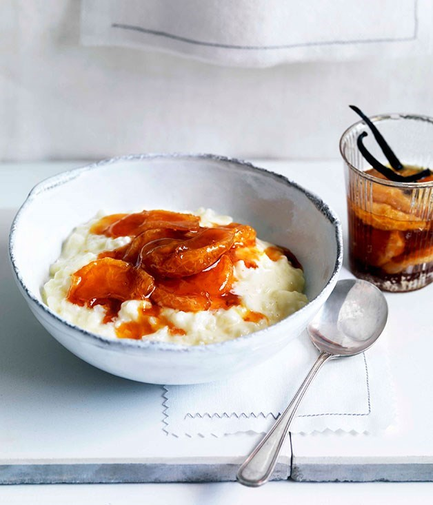 **Rice pudding with vanilla and caramelised mandarin compote**