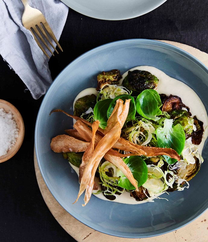 """[Aria Brisbane's fried Brussels sprouts, parsnips and sherry](http://www.gourmettraveller.com.au/recipes/chefs-recipes/aria-brisbanes-fried-brussels-sprouts-parsnips-and-sherry-9321 target=""""_blank"""")"""
