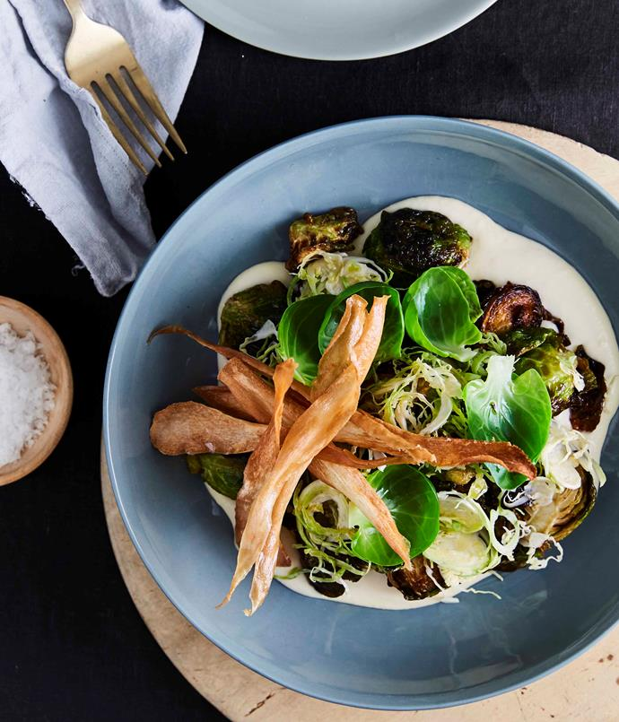 "**[Aria Brisbane's fried Brussels sprouts, parsnips and sherry](https://www.gourmettraveller.com.au/recipes/chefs-recipes/aria-brisbanes-fried-brussels-sprouts-parsnips-and-sherry-9321|target=""_blank""