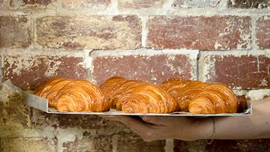 Perfectly designed pastries at Lune Croissanterie