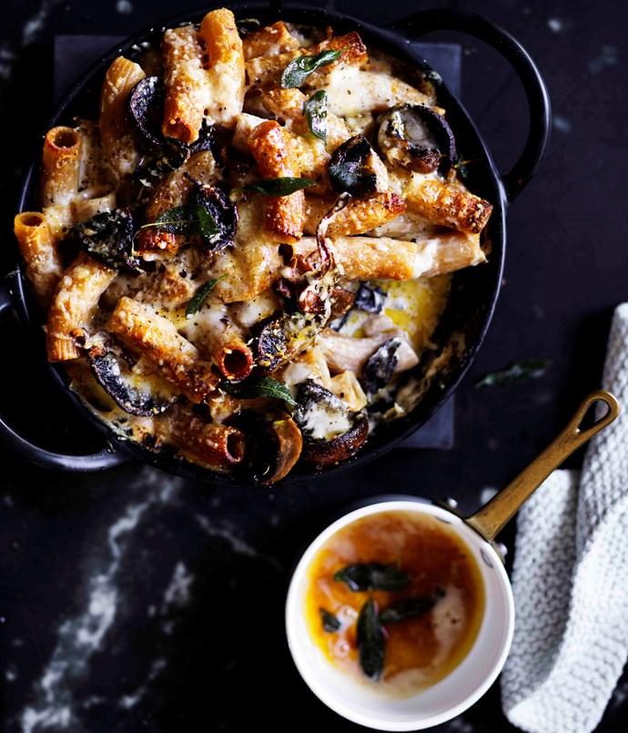 Mushroom and Fontina rigatoni