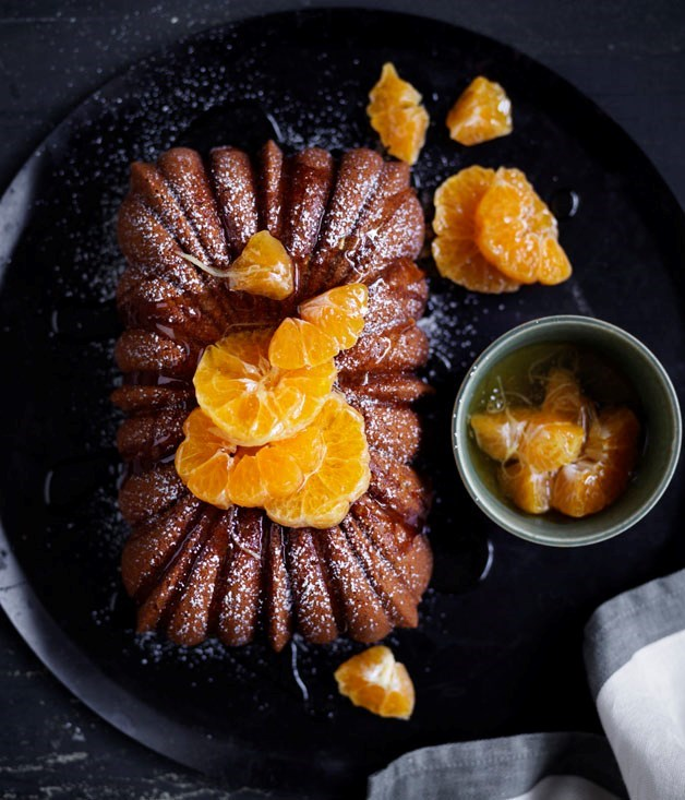 **Mandarin and ginger syrup cake**