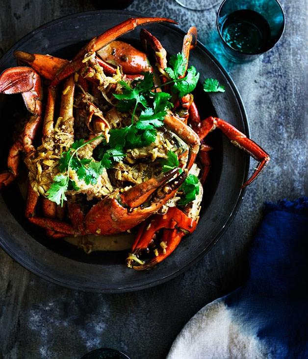 "[**Ginger and coconut crab**](https://www.gourmettraveller.com.au/recipes/browse-all/ginger-and-coconut-crab-11955|target=""_blank"")"