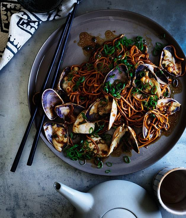 "[**La mian with pipis and ginger**](https://www.gourmettraveller.com.au/recipes/browse-all/la-mian-with-pipis-and-ginger-11954|target=""_blank"")"