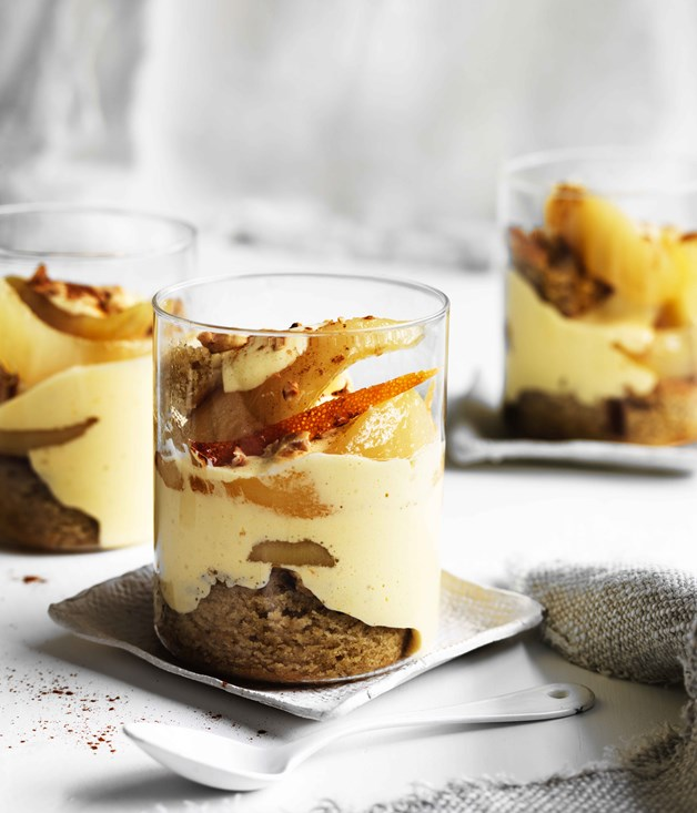 Warm Pear And Brandy Winter Trifle Recipe :: Gourmet Traveller