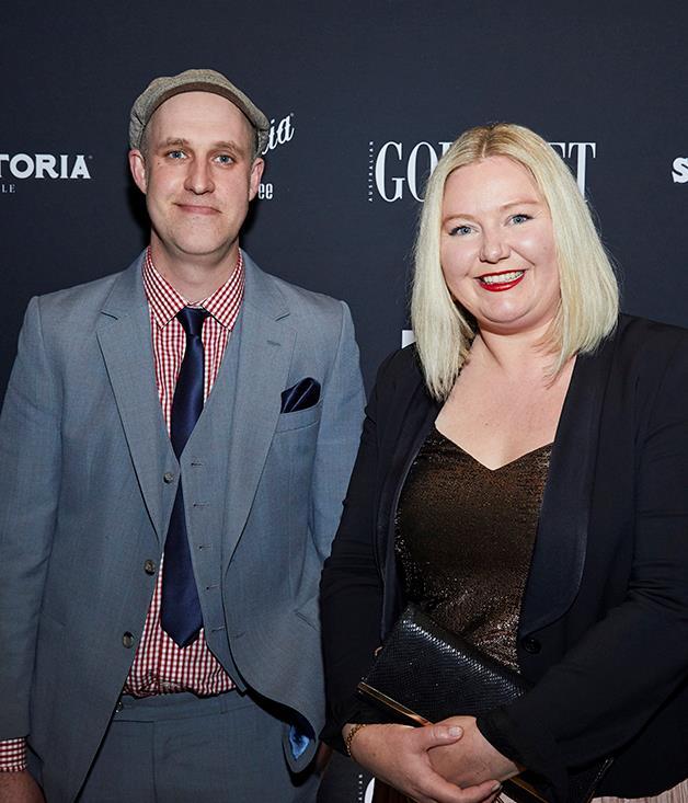 Sweet Envy's Alistair Wise and *Gourmet Traveller* senior food editor Lisa Featherby.