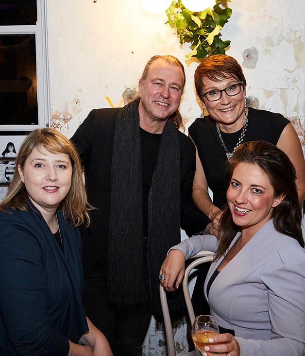 (back) Neil Perry, Bauer Media general manager homes and food, Cornelia Schulze. (front) Emma Sturgiss and Nicole Foster, Tourism Australia.