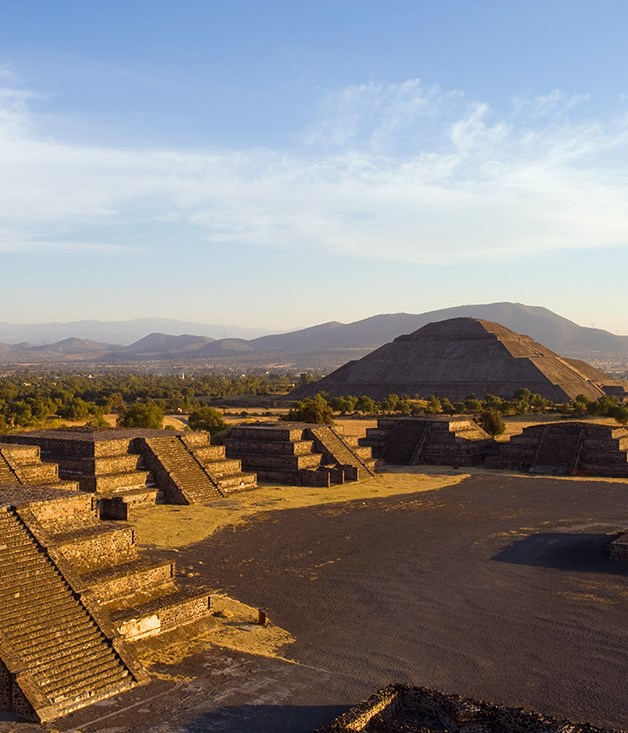 **Teotihuacan** Northeast of Mexico City is the holy city of Teotihuacan. Built between the 1st and 7th centuries A.D., the Pyramid of the Sun (pictured) is the site's largest structure. **Abercrombie & Kent** offers small group tours through the heart of the Mesoamerican spectacle, their **[Mexico's Day of the Dead Festival](https://www.abercrombiekent.com.au/journeys/mexicos-day-of-the-dead-festival)** journey showcasing the cultural wonders of Mexico City and Oaxaca.