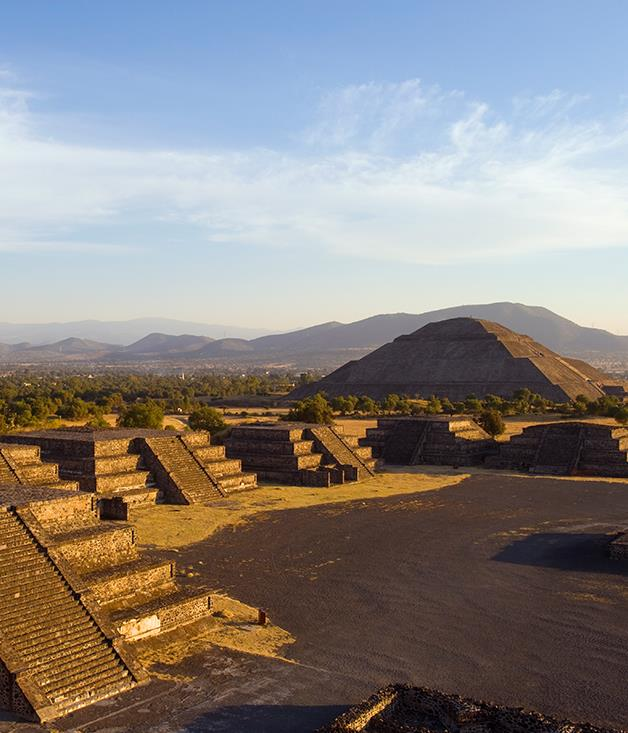 **Teotihuacan** Northeast of Mexico City is the holy city ofTeotihuacan. Built between the 1st and 7th centuries A.D., the Pyramid of the Sun (pictured) is the site's largest structure. **Abercrombie & Kent** offers small group tours through the heart of the Mesoamerican spectacle, their**[Mexico's Day of the Dead Festival](https://www.abercrombiekent.com.au/journeys/mexicos-day-of-the-dead-festival)** journey showcasing the cultural wonders of Mexico City and Oaxaca.