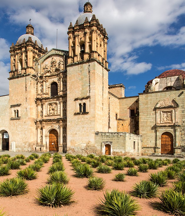 **Convento de Santo Domingo, Oaxaca** One of Mexico's most stunning examples of Baroque architecture, construction began on the church during the 1550s by the Dominican order. The interior is as impressive as its facade, with intricate 3D gilt designs and gold ceiling detailing.