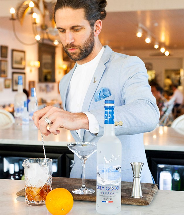 **Andy Wren** The Australian Grey Goose brand ambassador designed the new cocktail menu at Halcyon House.