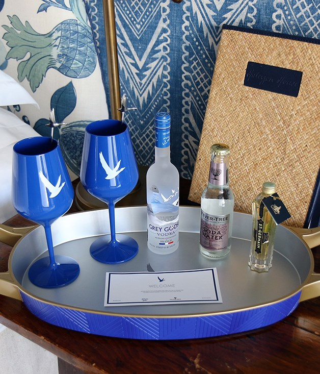 **Grey Goose Vodka celebration kit** Guests staying at Halycon House throughout spring will receive a complimentary Grey Goose celebration kit, which features all the ingredients needed to make Le Grand Fizz.