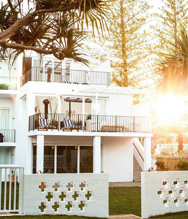 **Balconies overlooking the ocean** The view of Halcyon House from Cabarita Beach.