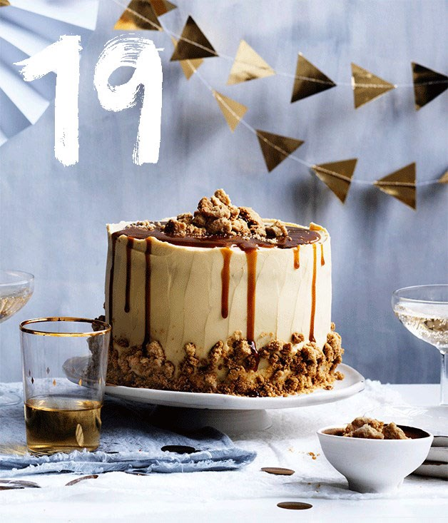 "[**Salted caramel layer cake**](https://www.gourmettraveller.com.au/recipes/browse-all/salted-caramel-layer-cake-12599|target=""_blank"") <br><br> There's a lot going on in this cake - layers of brown sugar cake, salted caramel, cream cheese frosting and brown sugar crumb for texture. It all adds up to salty-sweet deliciousness, which is well worth every step. To make things easier, the caramel, crumb and frosting can all be made several days ahead."