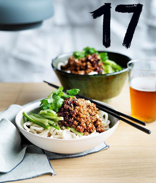 "[**Lawyers, Guns & Money's pork ja jiang mian noodles**](https://www.gourmettraveller.com.au/recipes/chefs-recipes/lawyers-guns-and-moneys-pork-ja-jiang-mian-noodles-9283|target=""_blank"") <br><br> Melbourne restaurant Lawyers, Guns and Money may be closed, but their (surprisingly easy to make) pork ja-jiang mian noodles live on."