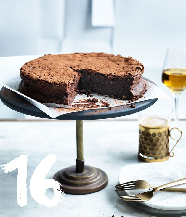 "[**Flourless chocolate, hazelnut and buttermilk cake**](https://www.gourmettraveller.com.au/recipes/browse-all/flourless-chocolate-hazelnut-and-buttermilk-cake-12475|target=""_blank"") <br><br> Every great baker needs a great flourless chocolate cake recipe. Here's the one we swear by."