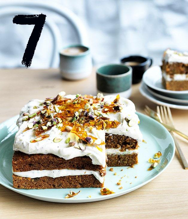 """[**Shrini Parwana's masala carrot cake**](https://www.gourmettraveller.com.au/recipes/chefs-recipes/shirni-parwanas-masala-carrot-cake-9280