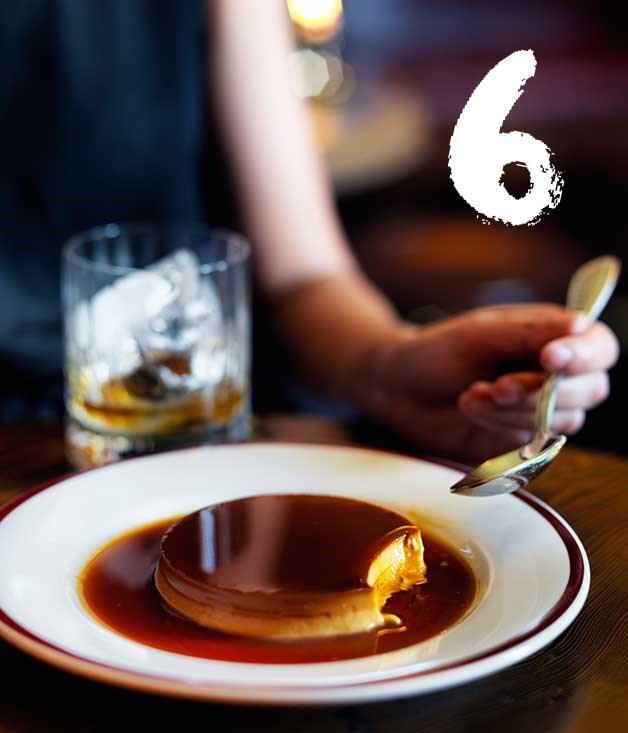 "[**Restaurant Hubert's crème caramel**](https://www.gourmettraveller.com.au/recipes/chefs-recipes/creme-caramel-8419|target=""_blank"") <br><br> Restaurant Hubert's chef Daniel Pepperell calls the crème caramel ""the best dessert of all time."""