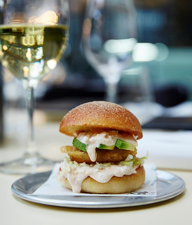 **Spanner crab and hash brown bun, Bodega 1904, Sydney** If a Filet-o-Fish and a lobster roll spawned an offspring it would be Bodega 1904's shellfish slider. Buttery bran rolls, made across the Tramshed at Dust Bakery, are stuffed with avocado, hash brown, shredded iceberg, and spanner crab mixed with chunky salsa golf, the Argentinian take on Thousand Island dressing. And you can eat them for lunch and dinner seven days a week.  _[Bodega 1904](http://bodega1904.com/), Tramsheds, 1 Dalgal Way, Forest Lodge, NSW, (02) 8624 3133_  Photography: Rob Shaw