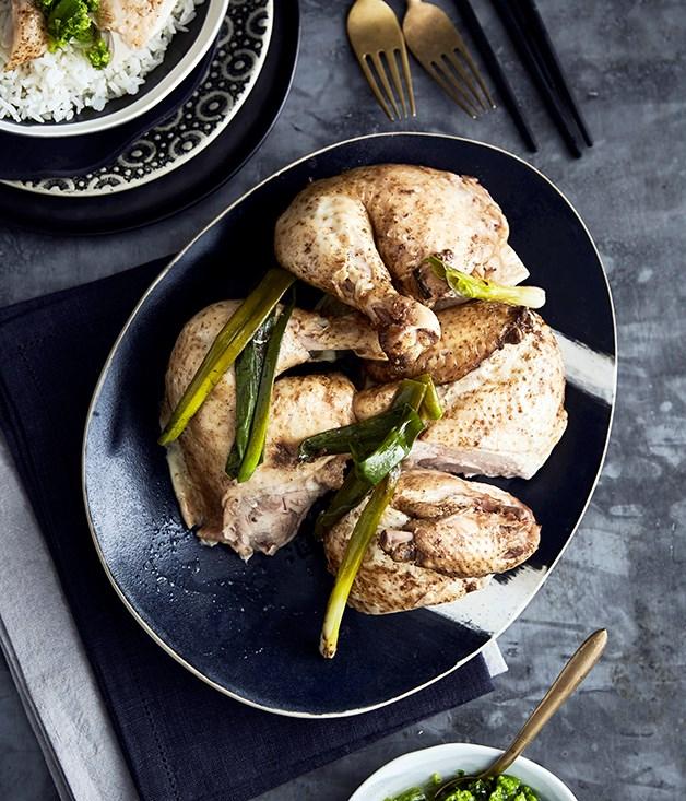 Hakka salt-baked chicken
