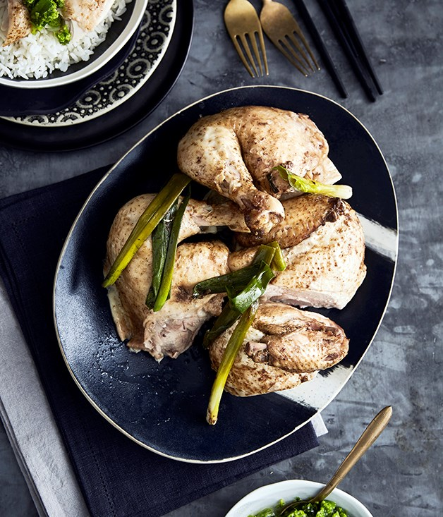 Hakka salt-baked chicken