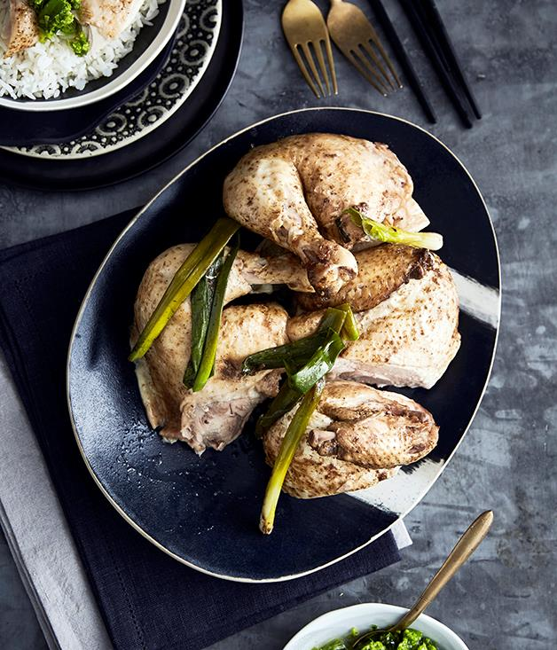"**[Hakka salt-baked chicken](https://www.gourmettraveller.com.au/recipes/browse-all/hakka-salt-baked-chicken-14247|target=""_blank"")**"