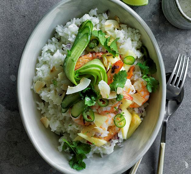 Spicy prawn and pineapple poke