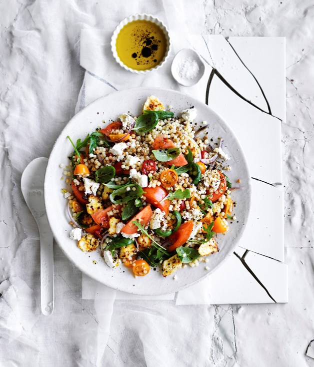 Tomato, ricotta and fregola salad