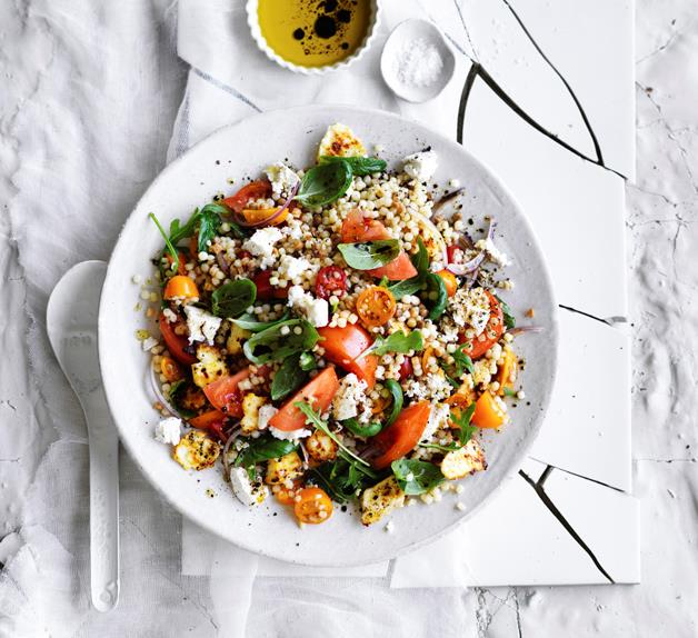 Tomato, ricotta and fregola salad