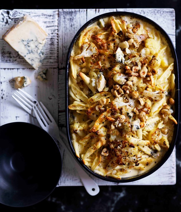 "[**Cauliflower and hazelnut strozzapreti with Gorgonzola**](https://www.gourmettraveller.com.au/recipes/browse-all/cauliflower-and-hazelnut-strozzapreti-with-gorgonzola-12840|target=""_blank"")"