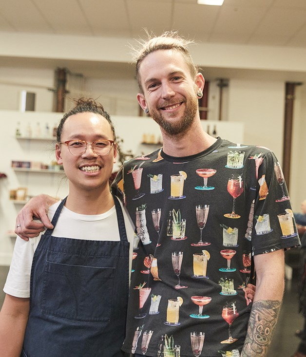 **PS40** Award-winning bartenders Michael Chiem and Thor Bergquist of PS40 served bespoke cocktails including a Tonic Basil Smash, Naked Ramos and Negroni in the Morning to guests.