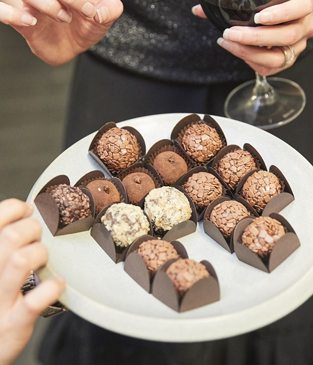 **DESSERT** Sweet Stone created a custom selection of their brigadeiros - handmade chocolate treats from Brazil - for the launch party.