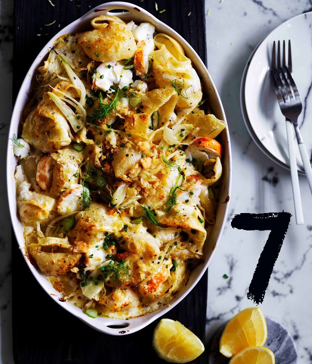 "**[Lobster pasta with lemon crumbs](https://www.gourmettraveller.com.au/recipes/browse-all/lobster-pasta-with-lemon-crumbs-12833|target=""_blank"")**"