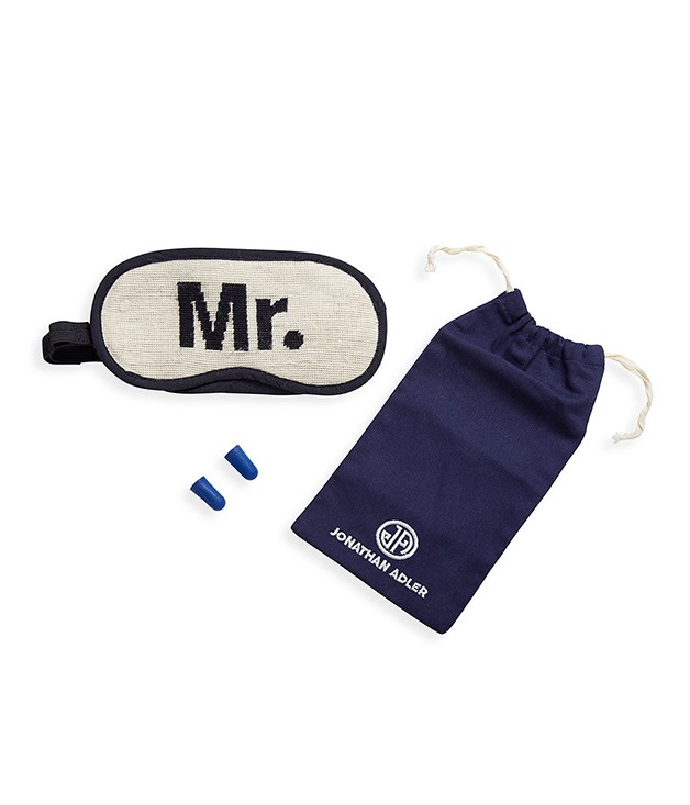 **Jonathan Adler Jet Set Travel Kit - Mr** For any frequent flyers or newly engaged/married friends and family, consider the Mr or Mrs Jet Set Travel Kit - the ultimate kitschy-chic gift. The embroidered eye mask and earplugs are sure to be well-received.  _$106, [au.amara.com](https://au.amara.com/products/mr-jet-set-travel-kit)_