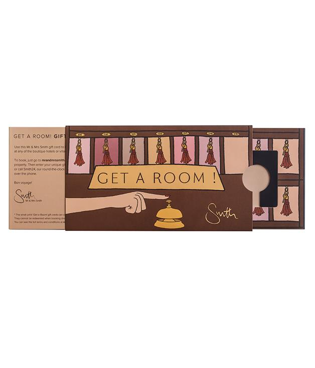 **Mr & Mrs Smith Get a Room! Gift Card** One for the 'what to buy when you don't have a clue what to buy' list; a boutique hotel voucher will always be welcome. Particularly when it's adorned with illustrations by Angelica Hicks. The British artist was comissioned by Mr & Mrs Smith to add her playful penmanship to its Christmas gift cards.   _From $50, [mrandmrssmith.com/shop](https://www.mrandmrssmith.com/shop/products/angelica-hicks-gift-card)_
