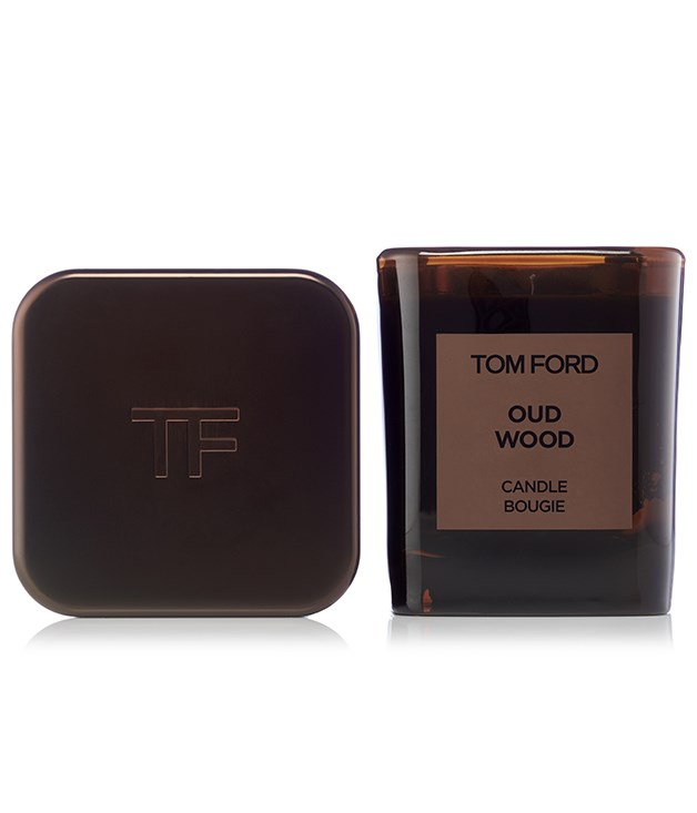 **Tom Ford Oud Wood Candle** Oud wood is one of the rarest and most exclusive ingredients in perfumery making this Tom Ford candle a luxurious gift for loved ones. Blended with rose wood, cardamom, sandalwood, vetiver and amber, it adds a warm, sensual air to any space. It comes with a metal cover that doubles as a display case or candle cover when not in use.  _$215, [shop.davidjones.com.au](http://shop.davidjones.com.au/djs/ProductDisplay?catalogId=10051&productId=11613008&langId=-1&storeId=10051)_