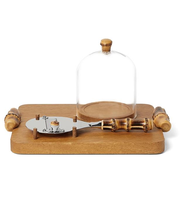 **Lorenzi Milano Iroko Wood, Bamboo And Stainless Steel Truffle Shaver Set** This truffle shaving set is sure to set hearts a-flutter. Handcrated in Italy using iroko wood and bamboo, it comprises a sturdy tray, stainless steel shaver and mouth-blown glass dome to keep truffle shavings fresh. So what's up first, [truffle omelette](http://www.gourmettraveller.com.au/recipes/recipe-collections/2014/7/truffle-recipes/truffle-recipes-image-1/) or [truffled chicken](http://www.gourmettraveller.com.au/recipes/recipe-collections/2014/7/truffle-recipes/truffle-recipes-image-6/)?  _Approx. $686, [mrporter.com/en-au](https://www.mrporter.com/en-au/mens/lorenzi_milano/iroko-wood--bamboo-and-stainless-steel-truffle-shaver-set/1025444)_