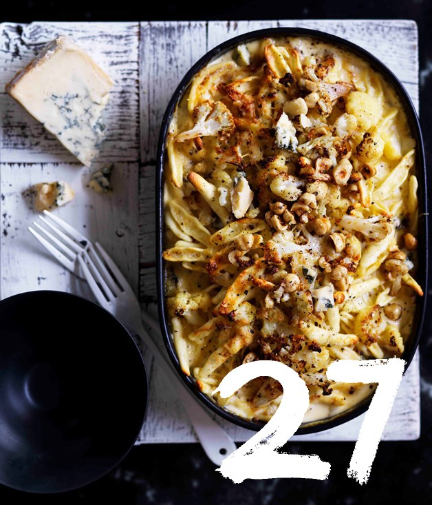 "**[Cauliflower and hazelnut strozzapreti with gorgonzola](https://www.gourmettraveller.com.au/recipes/browse-all/cauliflower-and-hazelnut-strozzapreti-with-gorgonzola-12840|target=""_blank"")**"
