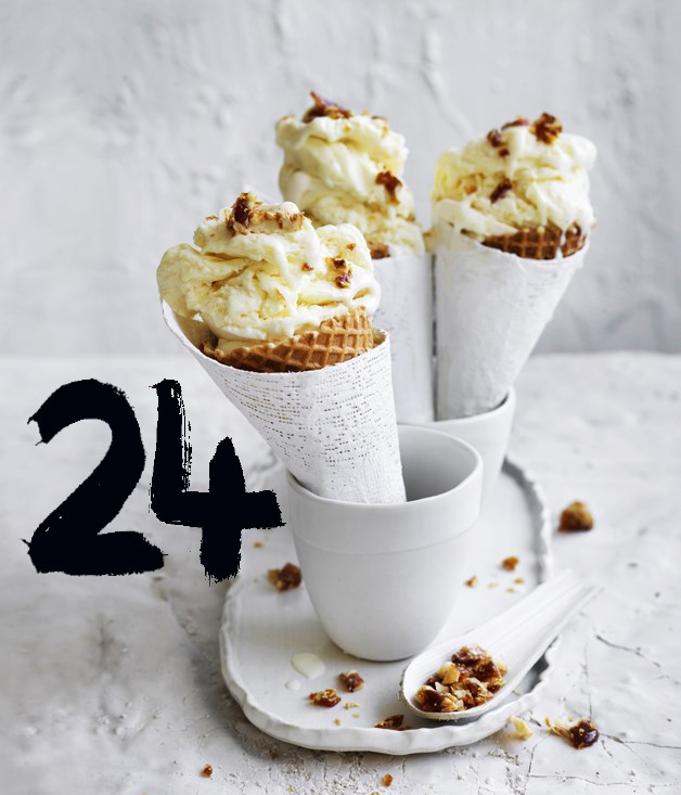 "**[Ricotta gelato with espresso praline](https://www.gourmettraveller.com.au/recipes/browse-all/ricotta-gelato-with-espresso-praline-12900|target=""_blank"")**"