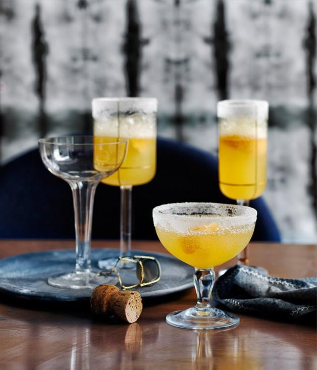 "[**Champagne Crustas**](https://www.gourmettraveller.com.au/recipes/browse-all/champagne-crustas-12772|target=""_blank"")"